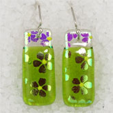 Dichroic glass earrings from The Earring Lady in Florence, SC